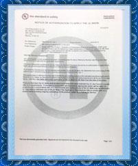 Gadlee嘉得力 产品原材料UL认证