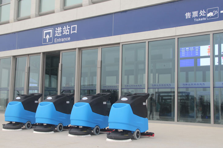 The new GT55 walk-behind scrubber dryer is ideal for contract cleaners,ECO Mode system,